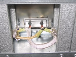 oven construction left side element wiring