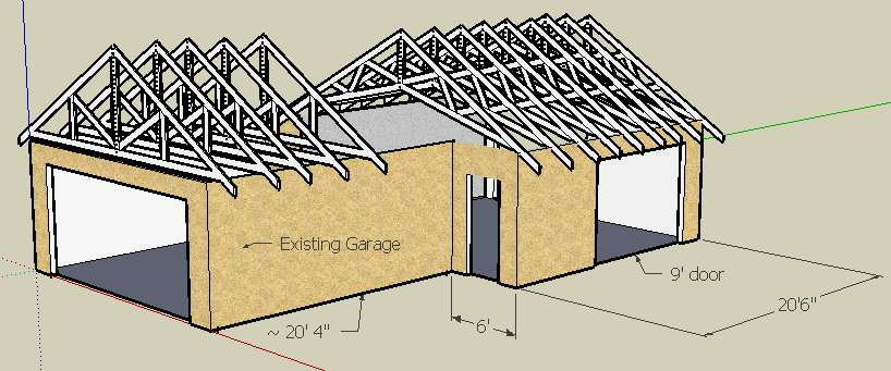 The Idea Suggested By Someone Else A Few Posts Up Is What I Most Likely Would Do Build 2ft Wall And Move My Garage Door Think With Proper Roof